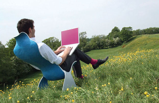 Photo of a Freelancer working in a field