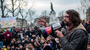 Image of Nuit Debout protesters at Place de la République