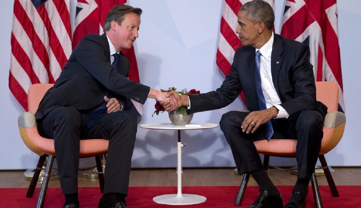Brexit: image of Cameron and Obama shaking hands