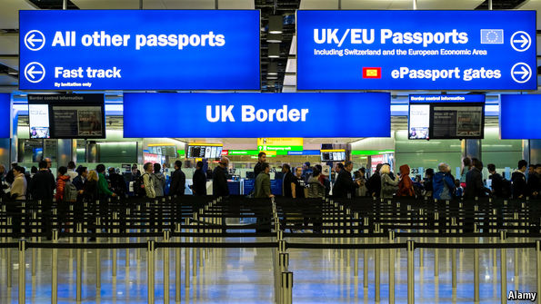Brexit: image of border controls at UK airport