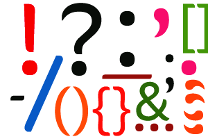 Image of punctuation symbols