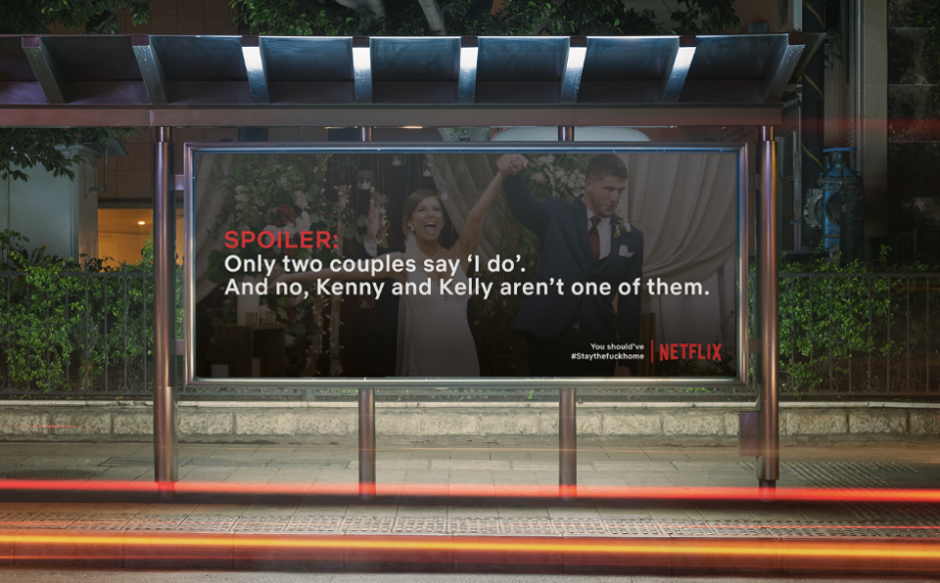 Print ad with Neflix spoilers